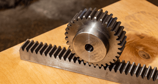 Helical gears or helical rack and pinion?
