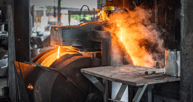 Casting sand for industrial use