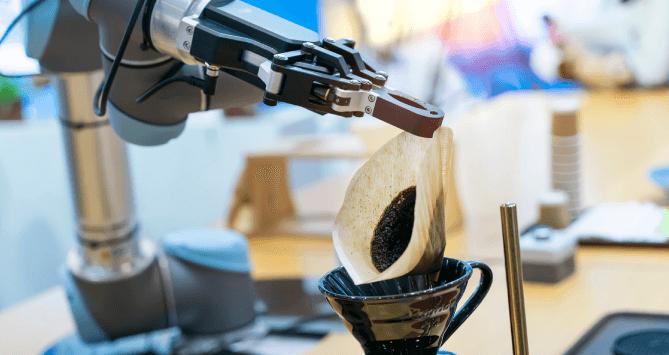 Robot coffee shop